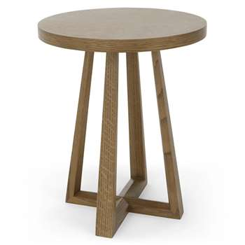 Belgrave Side Table, Dark Stained Oak (H55 x W45 x D45cm)