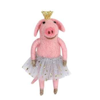 Belinda Ballerina Pig Decoration (H11 x W5 x D3cm)