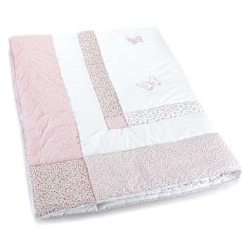 Bella Butterfly Pink Cotton Quilt (150 x 200cm)