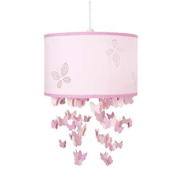 Bella Butterfly Pink Mobile Ceiling Shade (20 x 30cm)