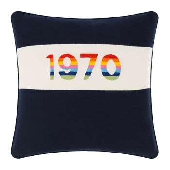 Bella Freud - 1970 Cushion - Navy (H50 x W50cm)