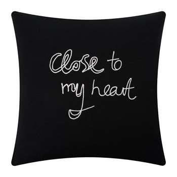 Bella Freud - Close To My Heart Cushion - Black (H50 x W50cm)