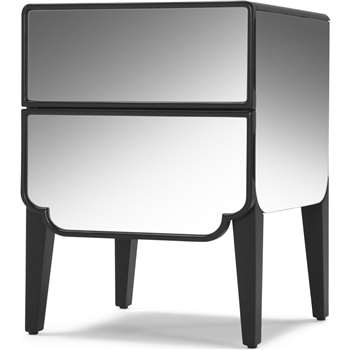 Belle Bedside Table, Mirror (56 x 42cm)