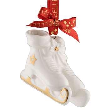 Belleek Living - Ice Skates Mini Christmas Tree Decoration (H4 x W5.2cm)