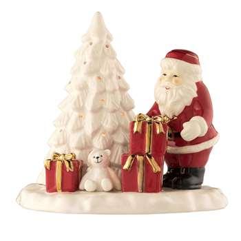 Belleek Living - Santa and Christmas Tree Votive (H18.5 x W21 x D17cm)