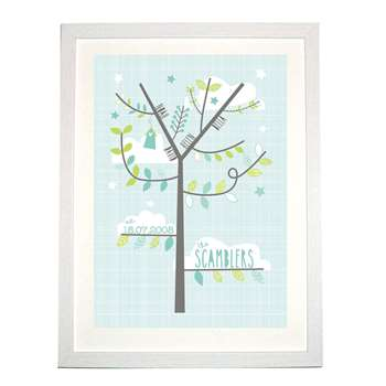Bells Scambler Personalised Graphic Family Tree Print (A4 Size)