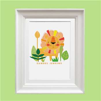 Bells Scambler Personalised Lion Print (A4 Size)