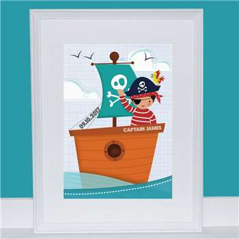 Bells Scambler Personalised Pirate Print (A4 Size)