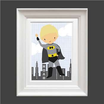 Bells Scambler Personalised Super Hero Print (A4 Size)