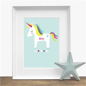 Bells Scambler Personalised Unicorn Print (A4 Size)