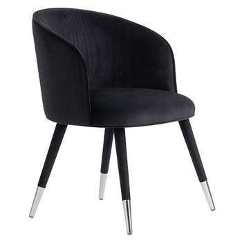 Bellucci Dining Chair - Black (H80 x W60 x D60cm)