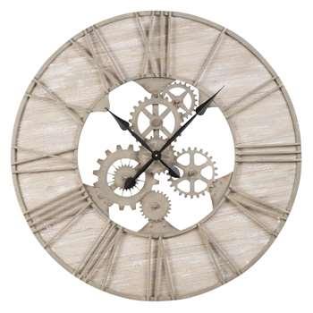 BELMONT Antique Effect Metal Cog Clock (H85 x W85 x D3cm)