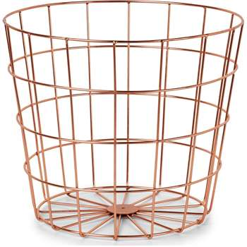 Bendt Wire Waste Bin, Copper (H26 x W30 x D30cm)