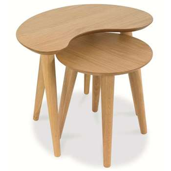 Bentley Designs - Oslo Oak Nest of Tables (H46 x W57 x D40cm)