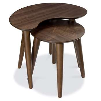 Bentley Designs - Oslo Walnut Nest of Tables (H46 x W57 x D40cm)