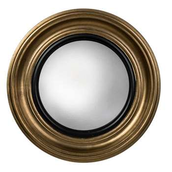 Berkeley Convex Mirror - Gold (40 x 40cm)
