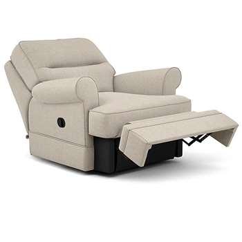 Berkeley Split Back Chair Recliner, Barvile Weave, Natural (Manual) (H96 x W98 x D102cm)