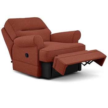 Berkeley Split Back Chair Recliner, Carron Mix, Burnt Orange (Manual) (H96 x W98 x D102cm)