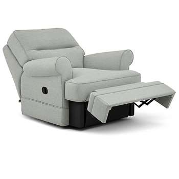 Berkeley Split Back Chair Recliner, Chambray (Manual) (H96 x W98 x D102cm)