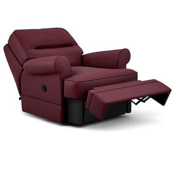 Berkeley Split Back Chair Recliner, Dakota Leather, Oxblood (Manual) (H96 x W98 x D102cm)