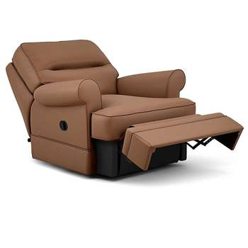 Berkeley Split Back Chair Recliner, Dakota Leather, Tan (Manual) (H96 x W98 x D102cm)
