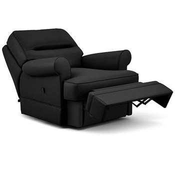 Berkeley Split Back Chair Recliner, Dallas, Black (Manual) (H96 x W98 x D102cm)