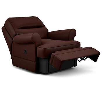 Berkeley Split Back Chair Recliner, Fine Leather, Dark Brown (Manual) (H96 x W98 x D102cm)