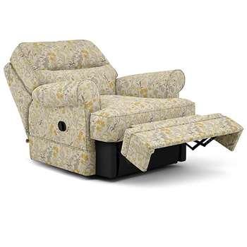 Berkeley Split Back Chair Recliner, Flora, Neutral (Manual) (H96 x W98 x D102cm)