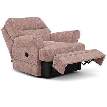 Berkeley Split Back Chair Recliner, Hailo, Blush (Manual) (H96 x W98 x D102cm)