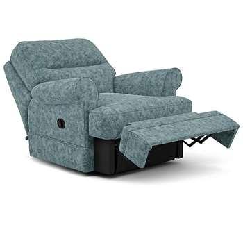 Berkeley Split Back Chair Recliner, Hailo, Duck Egg (Manual) (H96 x W98 x D102cm)