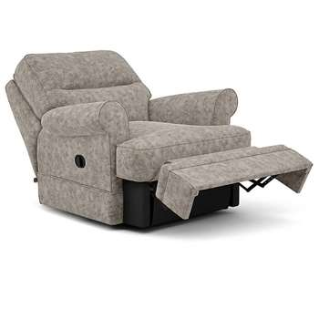 Berkeley Split Back Chair Recliner, Hailo, Taupe (Manual) (H96 x W98 x D102cm)