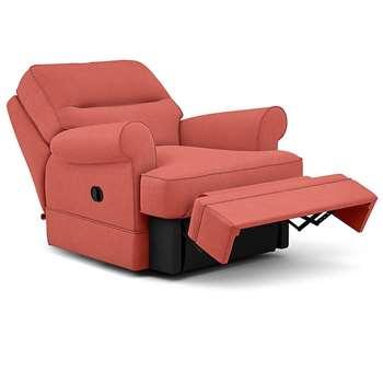 Berkeley Split Back Chair Recliner, Livie, Coral (Manual) (H96 x W98 x D102cm)