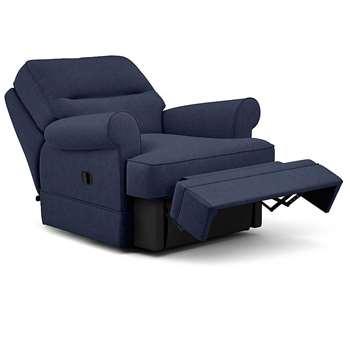 Berkeley Split Back Chair Recliner, Livie, Denim (Manual) (H96 x W98 x D102cm)