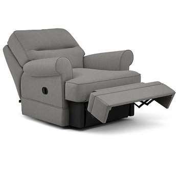Berkeley Split Back Chair Recliner, Livie, Grey (Manual) (H96 x W98 x D102cm)