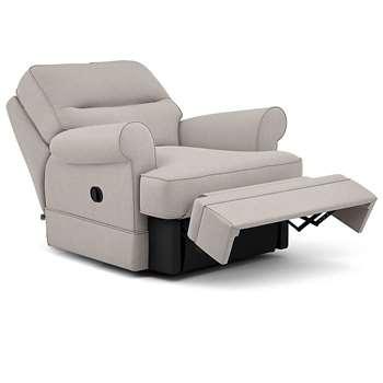 Berkeley Split Back Chair Recliner, Livie, Natural (Manual) (H96 x W98 x D102cm)