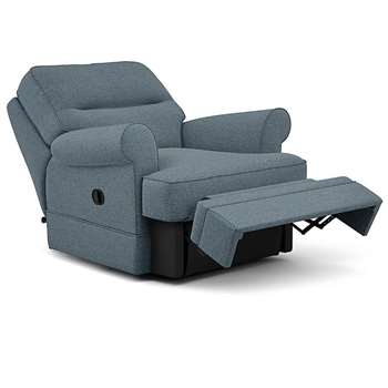 Berkeley Split Back Chair Recliner, Nola - Aquaclean, Duck Egg (Manual) (H96 x W98 x D102cm)