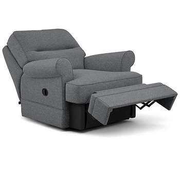 Berkeley Split Back Chair Recliner, Rivero, Charcoal (Manual) (H96 x W98 x D102cm)