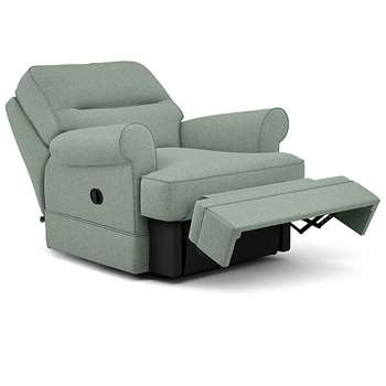 Berkeley Split Back Chair Recliner, Rivero, Duck Egg (Manual) (H96 x W98 x D102cm)