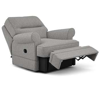 Berkeley Split Back Chair Recliner, Rivero, Steel (Manual) (H96 x W98 x D102cm)