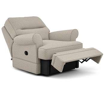 Berkeley Split Back Chair Recliner, Siona, Grey (Manual) (H96 x W98 x D102cm)