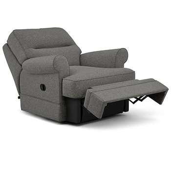Berkeley Split Back Chair Recliner, Sorren, Graphite (Manual) (H96 x W98 x D102cm)