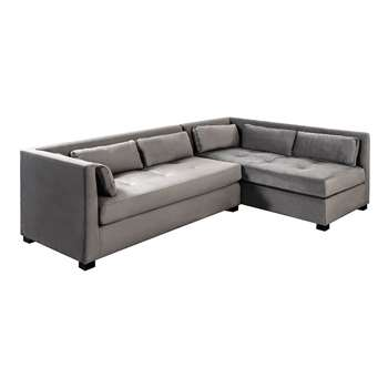 Berkley Right Hand Corner Sofa - Dove Grey (H71 x W253 x D170cm)