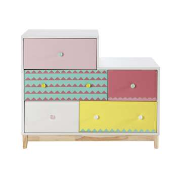 BERLINGOT Wooden child's chest of drawers, multicoloured W 100cm