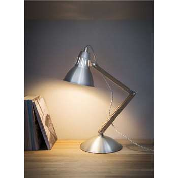 Bermondsey Table Lamp - Raw Aluminium (62 x 18cm)