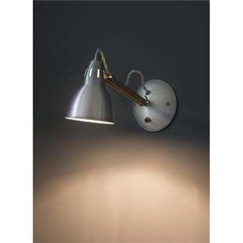 Bermondsey Wall Light in Aluminium - Oak (14 x 10cm)