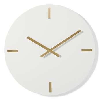 Bernard Extra Large Wall Clock, Off White & Brass (Diameter 60cm)