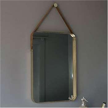 Beron Wall Mirror Brass (H70 x W50 x D5cm)