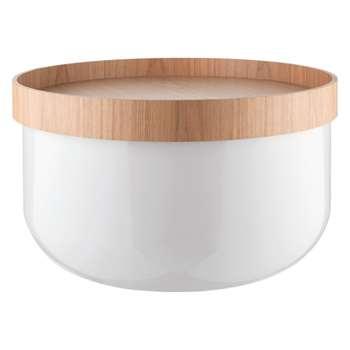 Bert White storage coffee table (Width 62.5cm)