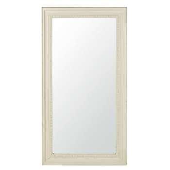 BERTILLE - Mirror with White Beaded Edge (H165 x W89 x D6.1cm)