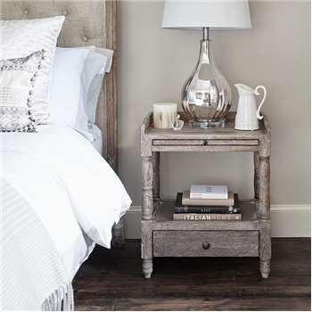 Bertrand Bedside Table - Oak (H60 x W50 x D40cm)
